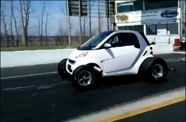Watch This: A 12 Second Smart Car Powered By A Big Block Chevy