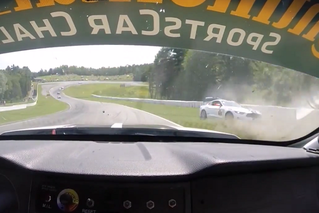 Video: In-Car View Of Scott Maxwell's Shelby GT350R-C Crash