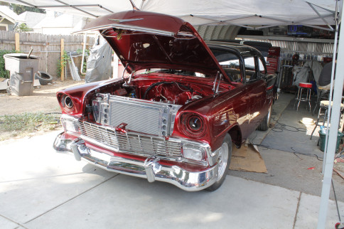 Steering It Straight In A '56 Chevy Bel Air With Flaming River