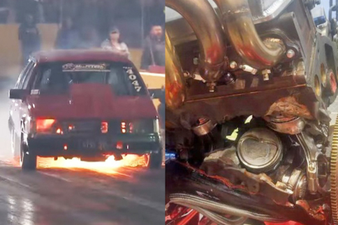 Video: Boosted 7-Second Holden Almost Splits Engine Block In Half!