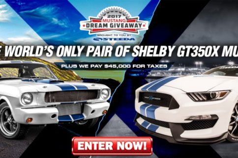 You Could Win Two One-Of-A-Kind Shelby GT350Xs!
